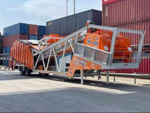 impianto di betonaggio Plusmix 100 m³/hour MOBILE Concrete Plant - BETONNYY ZAVOD - CENTRALE A nuovo