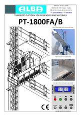 piattaforma sospesa PT ALBA 1800FA/B nuova